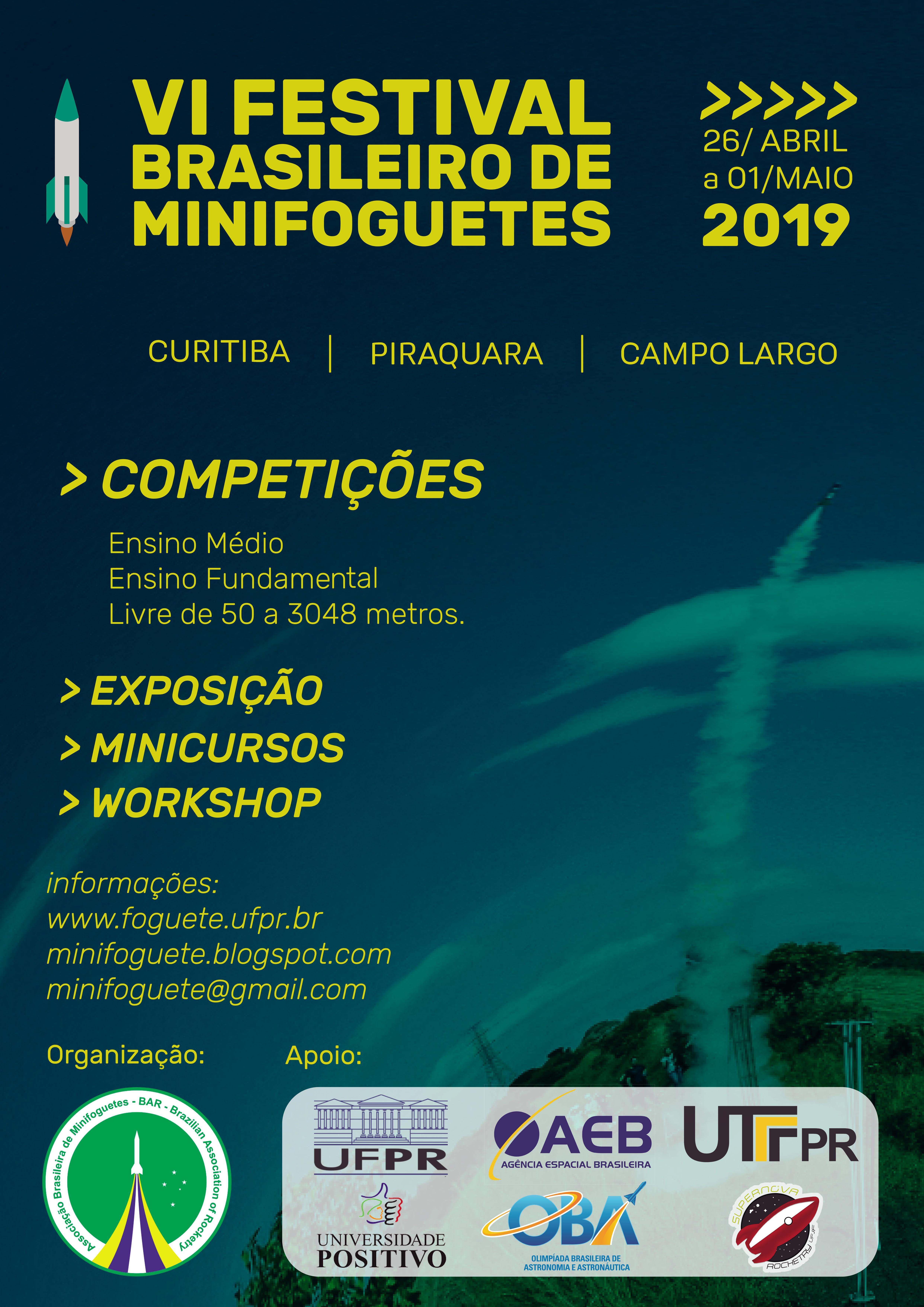 VI Festival de Brasileiros de Minifoguetes 2019
